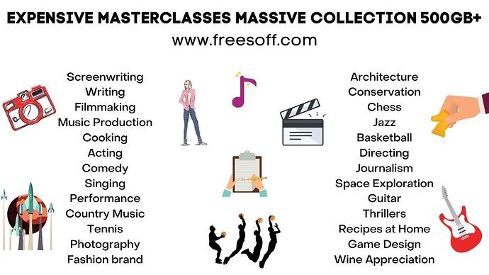 EXPENSIVE MASTERCLASSES MASSIVE COLLECTION 500GB+