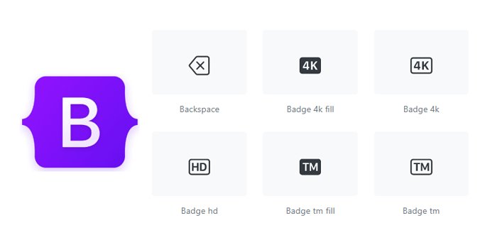 SVG Icons Library For Bootstrap