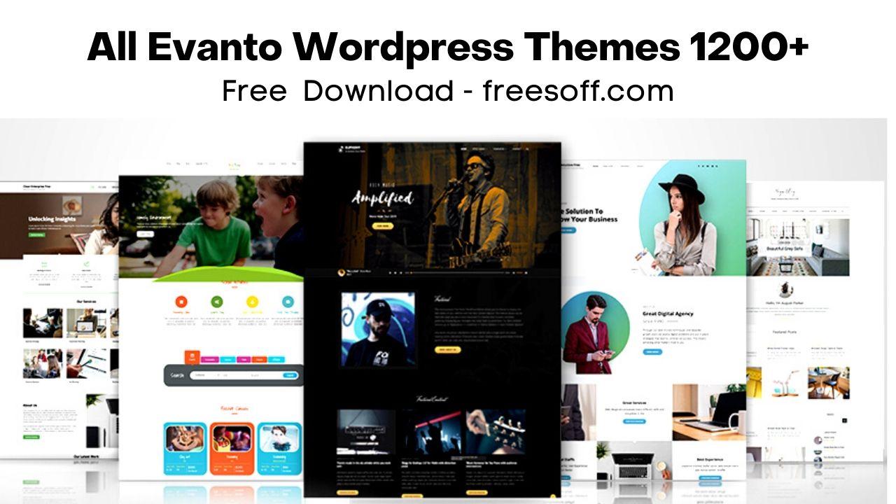 All Evanto Wordpress Templates 1200+