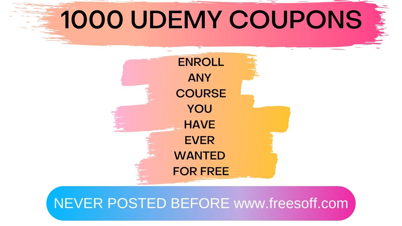 1000 Udemy Coupons