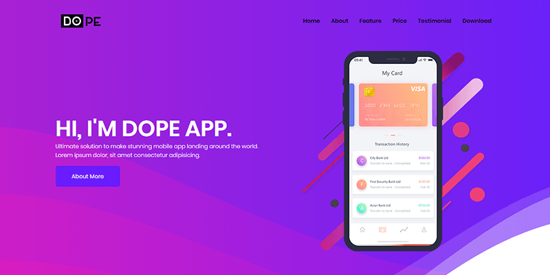 dope-multipurpose-bootstrap4-template-featured